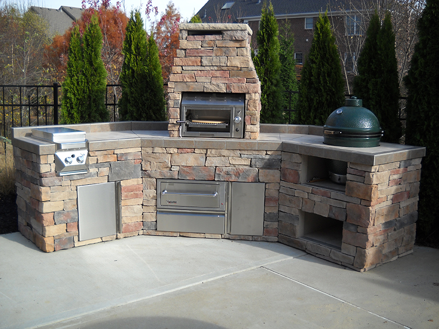 Stainless Steel Outdoor & Outdoor Refrigerator & Kitchen Islands & Granite Top Outdoor & Kitchens