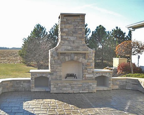 Fireplaces - Fireplaces are an integral part of luxury outdoor living and create an impressive focal point.