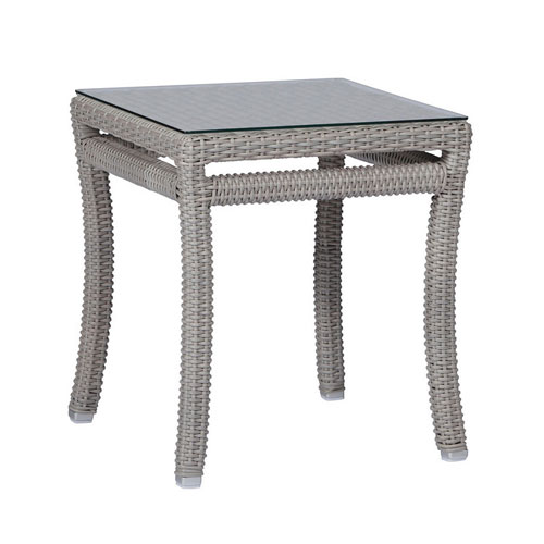 Club Woven End Table - Dimensions: W40.5 D35 H29