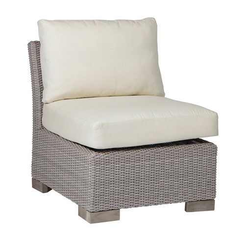 Club Woven Slipper chair - Dimensions: W26.5 D34 H29.5