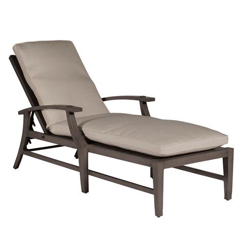 Croquet Aluminum Chaise Lounge - Dimensions: W27.75 D78.375 H38