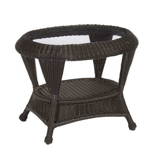 Classic Wicker End table - Dimensions: W29 D23 H22