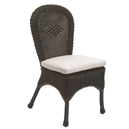 Classic wicker side chair - Dimensions: W20 D21.5 H37.5
