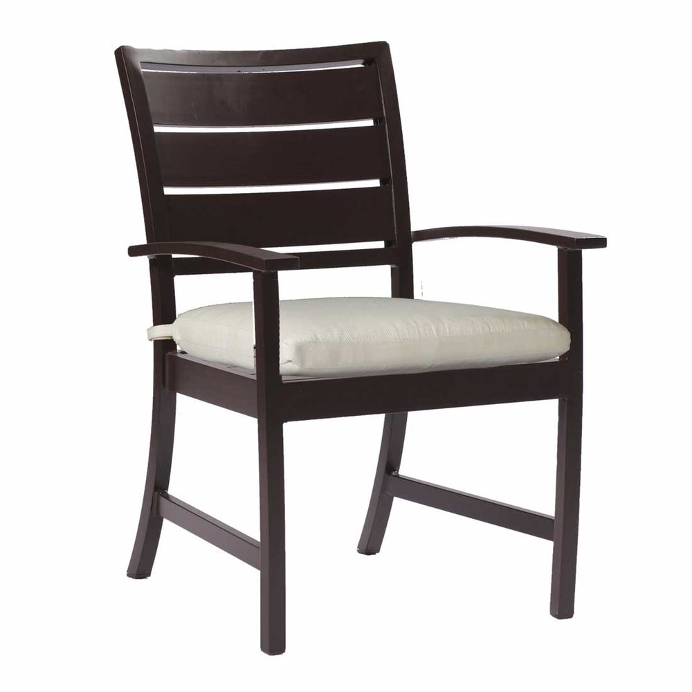 charleston aluminum arm chair - Dimensions: W24.5 D27.75 H35.75