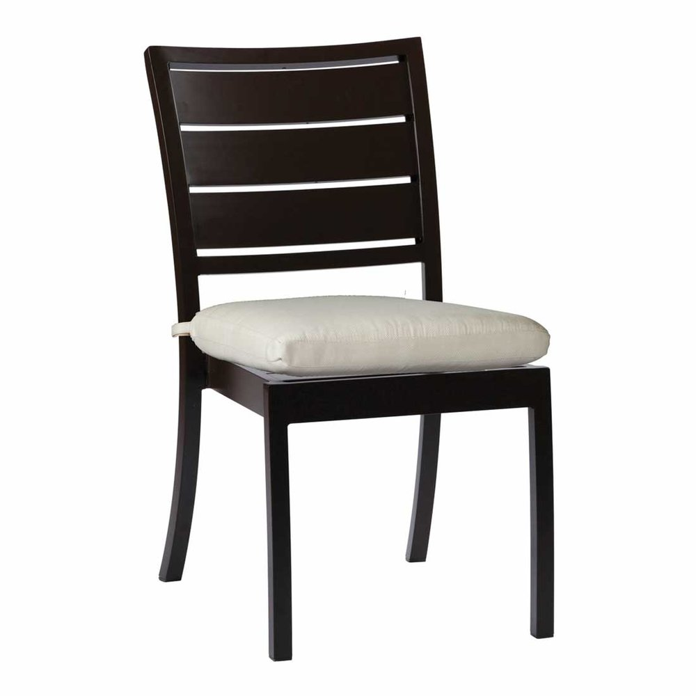 charleston aluminum side chair - Dimensions: W19.75 D28.5 H35.88