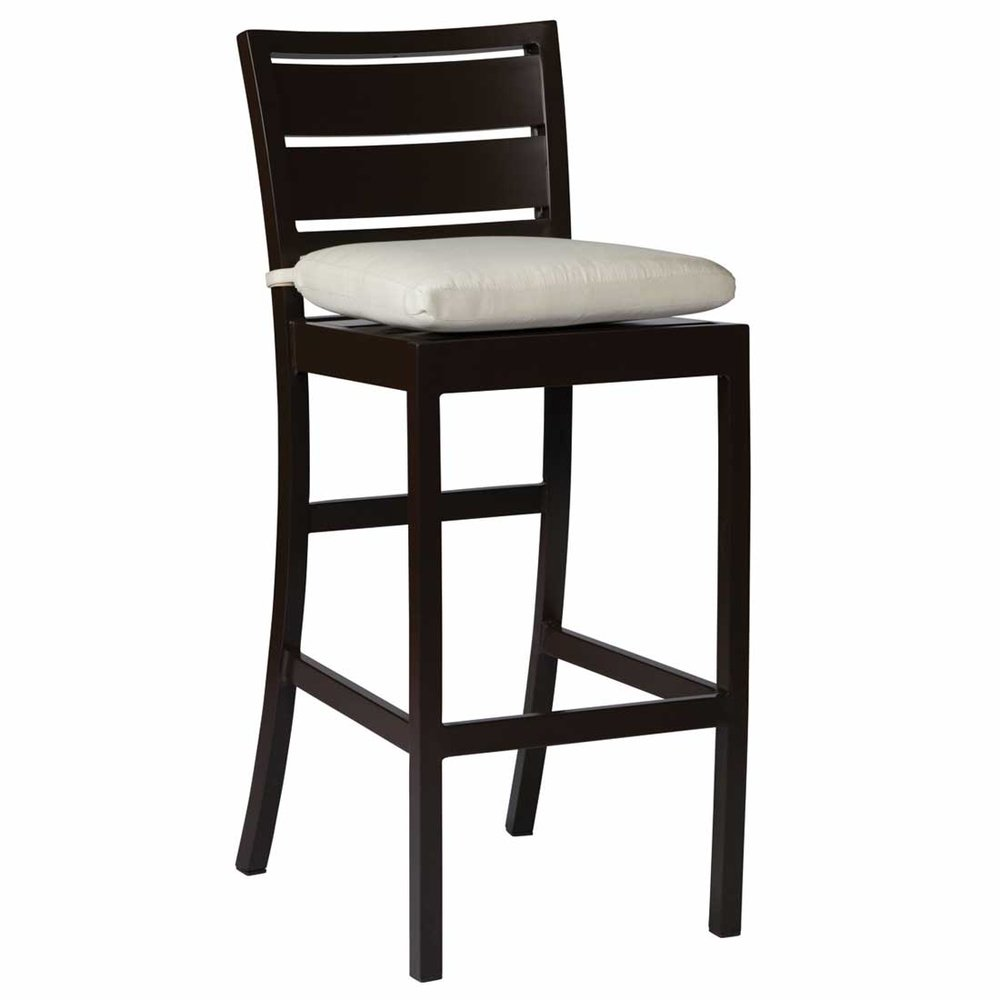 "Charleston Aluminum 30"" bar stool - Dimensions: W18 D21 H44"