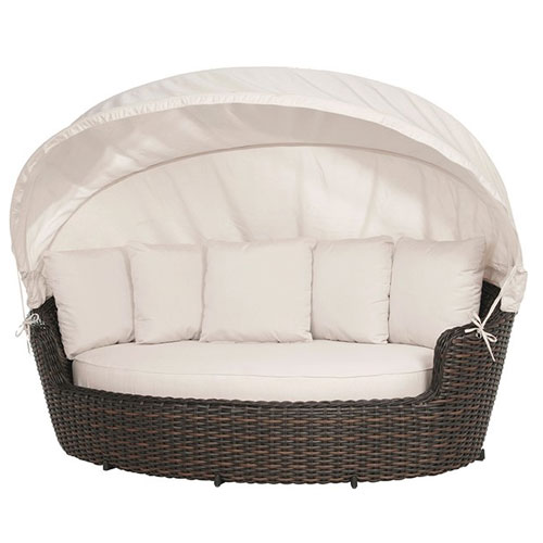 Dreux Daybed with Canopy - Dimensions: W93 D50 H32-70