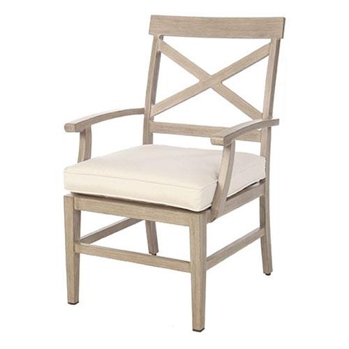 Portofino Dining Arm Chair - Dimensions: W23.5 D26.5 H37