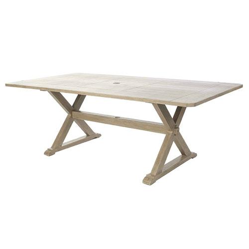 "Portofino 42"" x 82"" Rectangular Dining Table  - Dimensions: W82 D42 H29"