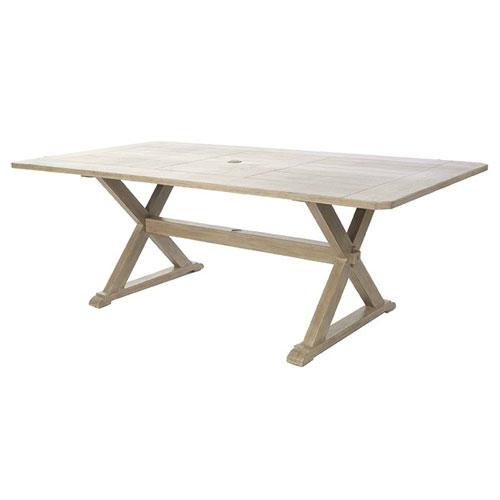 "Portofino 112"" Rectangular Dining Table - Dimensions: W112 D42 H29"