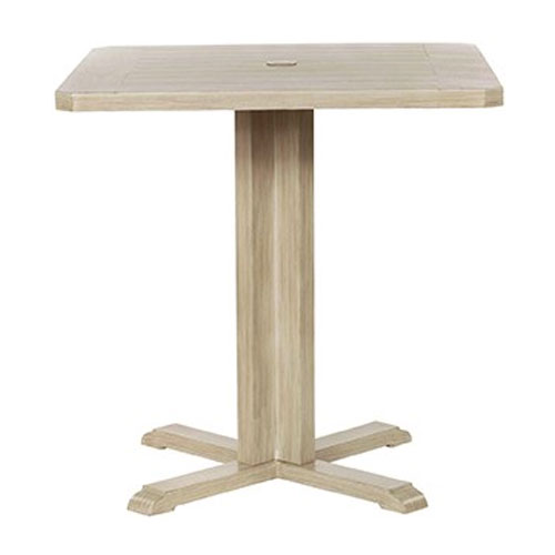 Portofino Counter Height pedestal Table - Dimensions: W36 D36 H36
