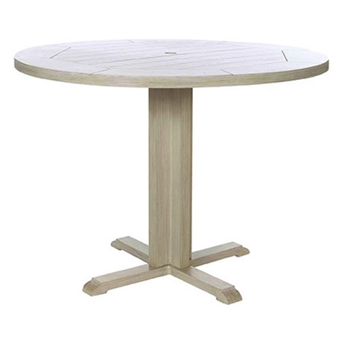 Portofino Bar Height Pedestal Table - Dimensions: W50 D50 H40