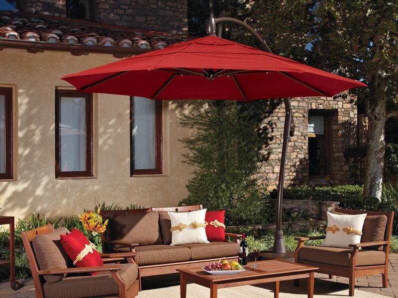 Cantilever Umbrella - Jockey Red