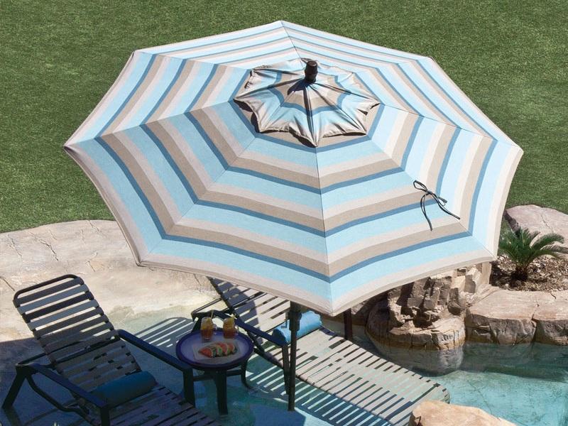 Collar Tilt Umbrella - Gateway Mist Stripe