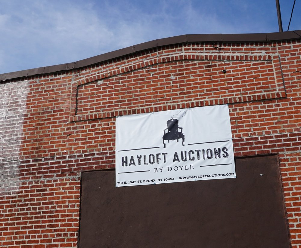 NEW YORK   - Brian Corcoran, DirectorBrian@hayloftauctions.comBlythe Knapp, Business ManagerBlythe@hayloftauctions.comAdam BitzerAdam@hayloftauctions.comFor press and media inquiries contact us at: info@hayloftauctions.com 719 East 134th Street, Bronx NY 10454 (by appointment only)   929.303.3266