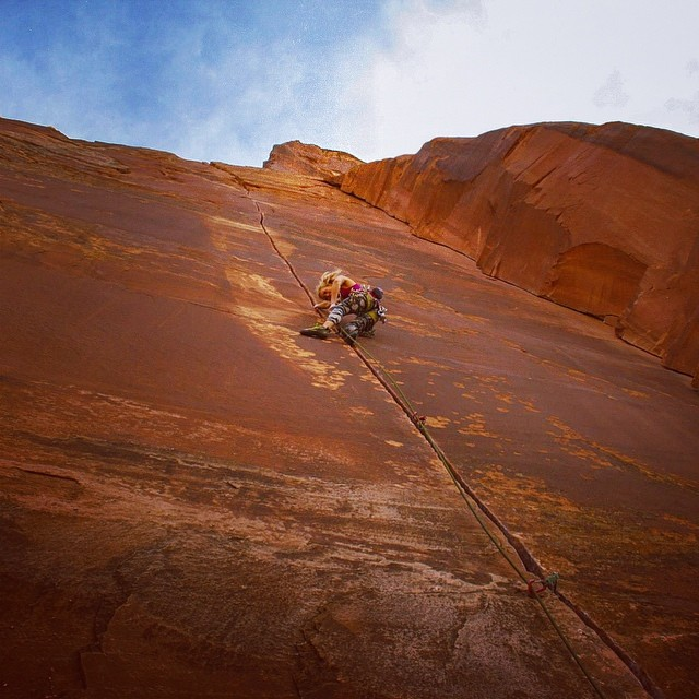 Monica Beck thisworldexists rock climbing crack