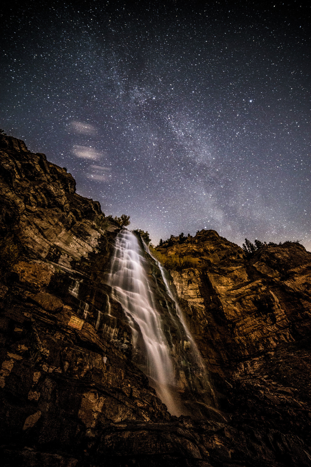 waterfall night sky stars kasey crook thisworldexists