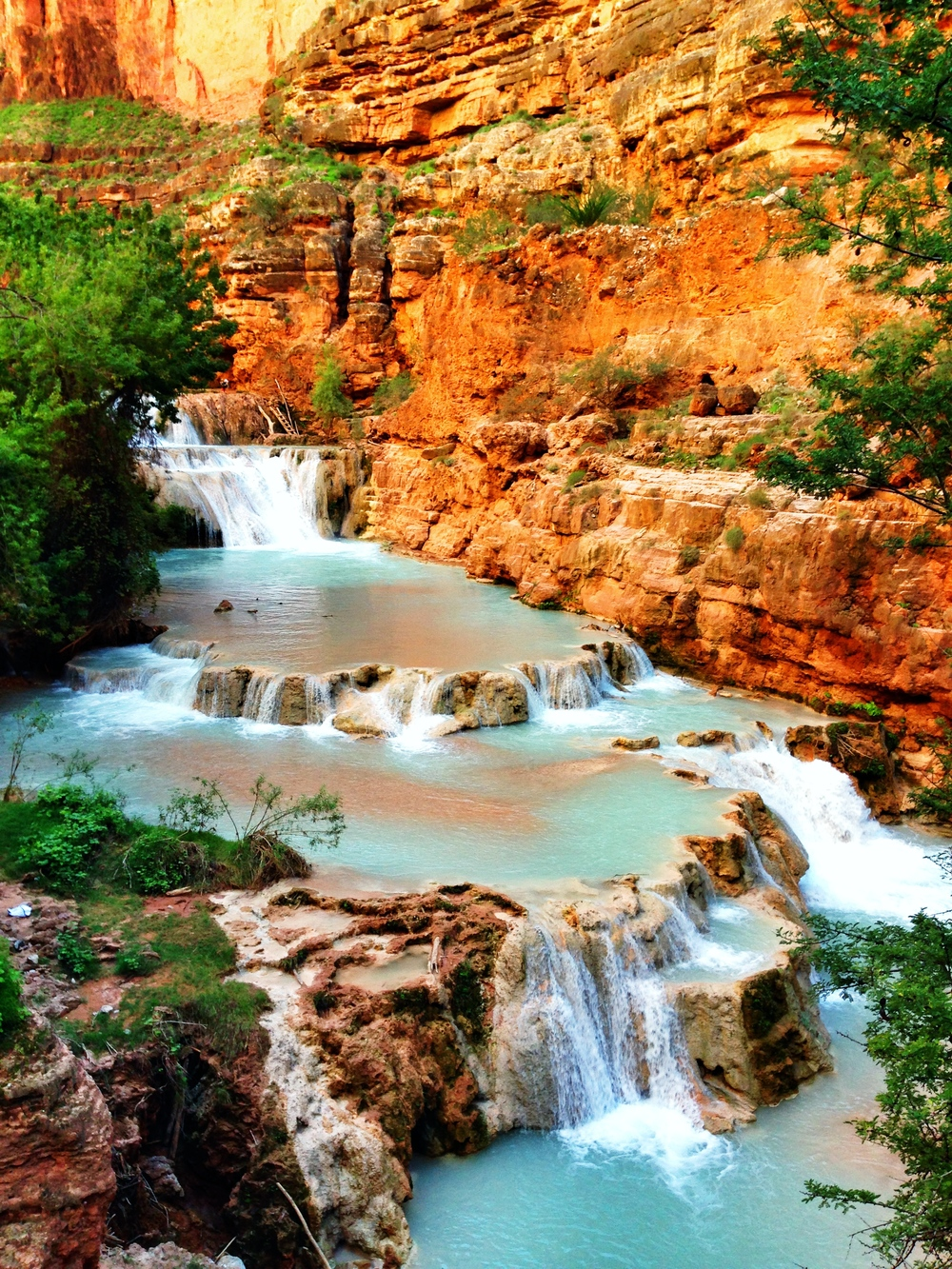 havaupai arizona desert waterfall oasis thisworldexists this world exists michelle torres