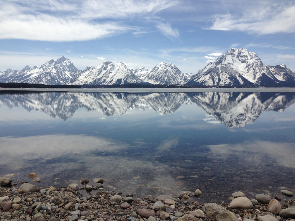 My favorite peak, Mount Moran, reflecting on Jackson Lake in Grand Teton