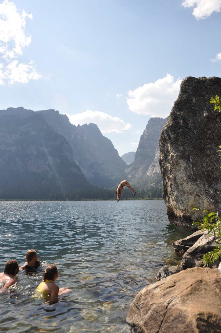 Phelps Lake jump thisworldexists this world exists