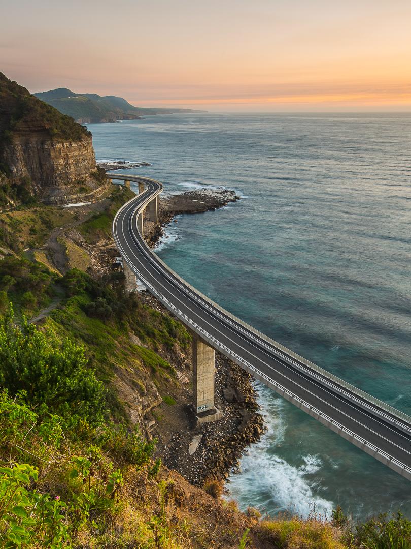 tom jessett thisworldexists australia this world exists sea cliff bridge