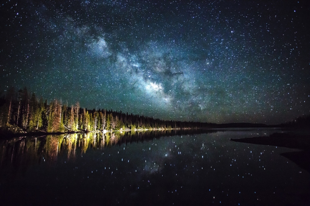 Milky way over Lost Lake in the Uinta Mountains.   Photo: Dean Chytraus