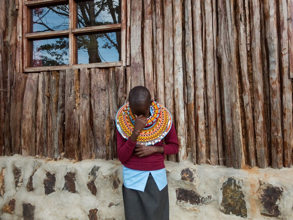 "Naramat: ""I'm at the Samburu Girls Foundation because I had many challenges at home. I wanted to go to school but no one would take me there. I am at peace because I am in school now. I want to be a teacher. A girl can be educated and be someone, like any other person in the world."" - Angela/Too Young To Wed/Samburu Girls Foundation"