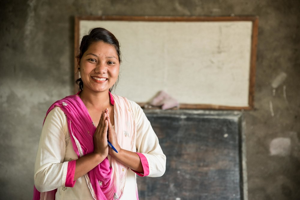 Heba, a teacher in Palu Bari Village of Nepal.