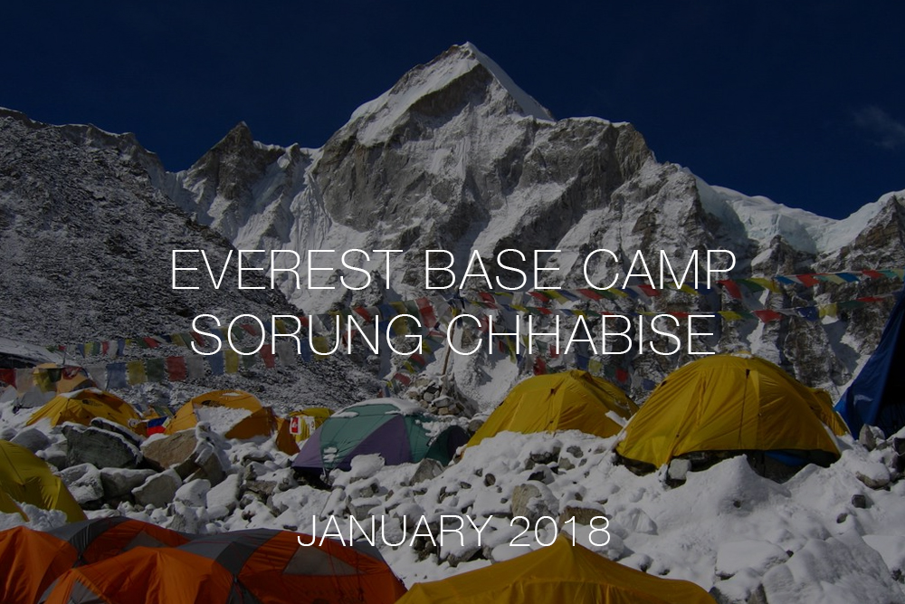 Everest base camp THISWORLDEXISTS volunteer Nepal