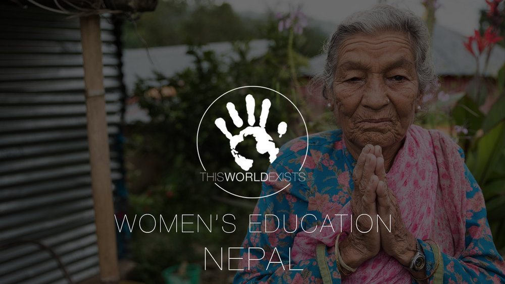 Women education THISWORLDEXISTS Volunteer Nepal