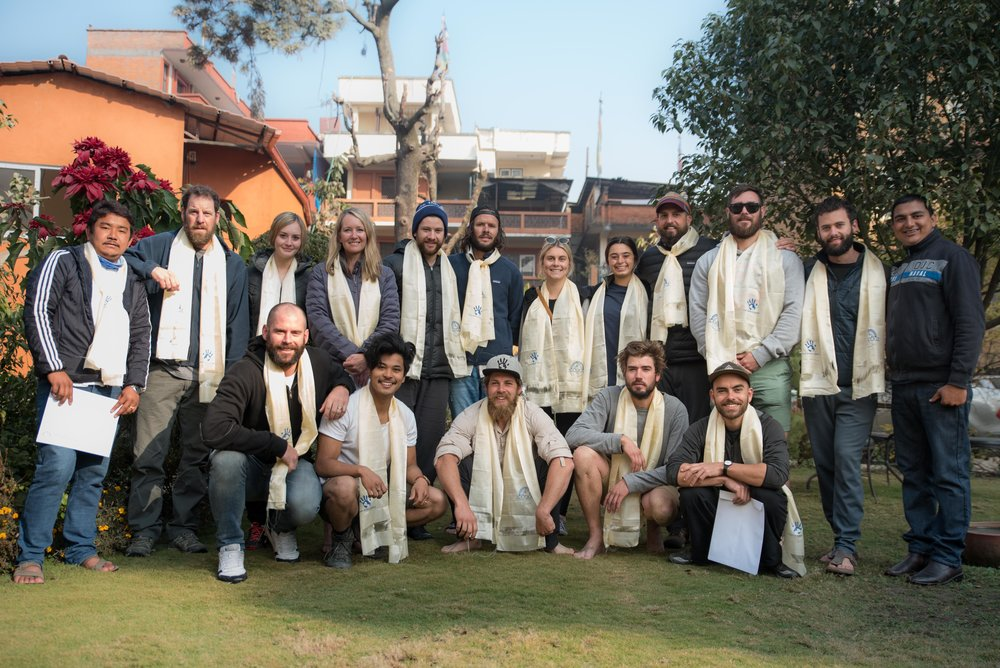 The January THISWORLDEXISTS group in Kathmandu, Nepal. PC @ryangraymedia