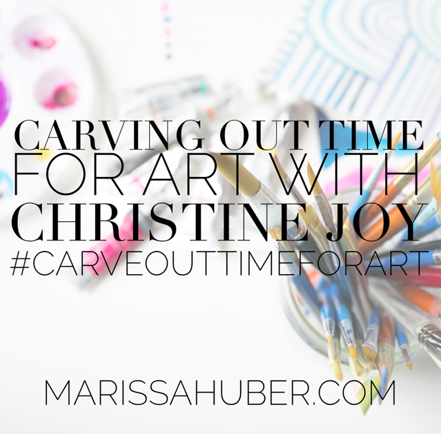 CARVE OUT TIME FOR ART BLOG FEATURE