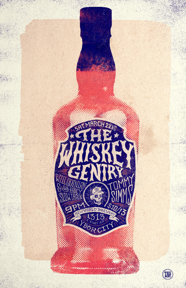 Whiskey Gentry Gigposter