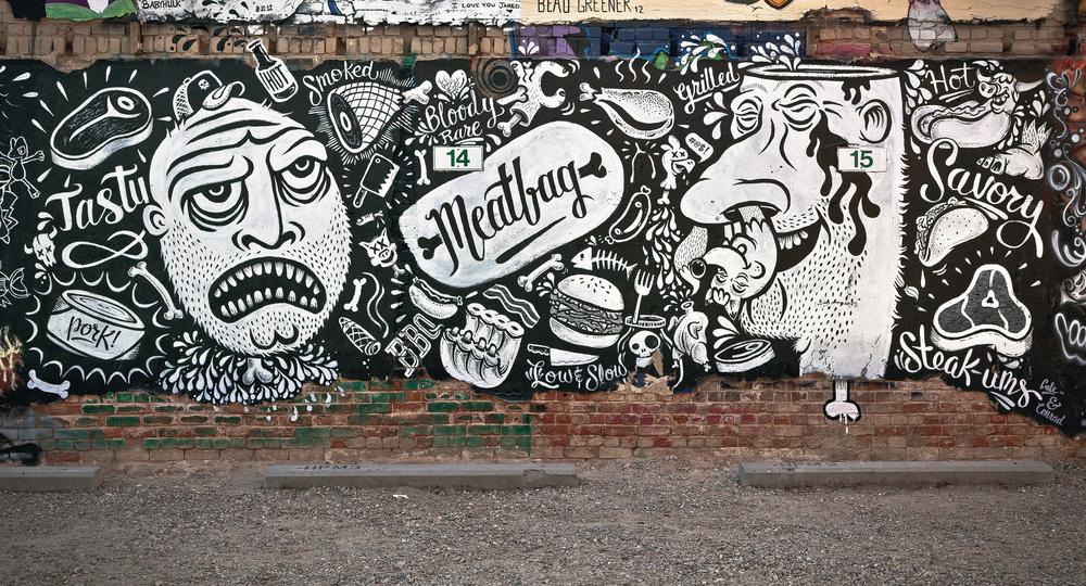 Meatbag Street Mural