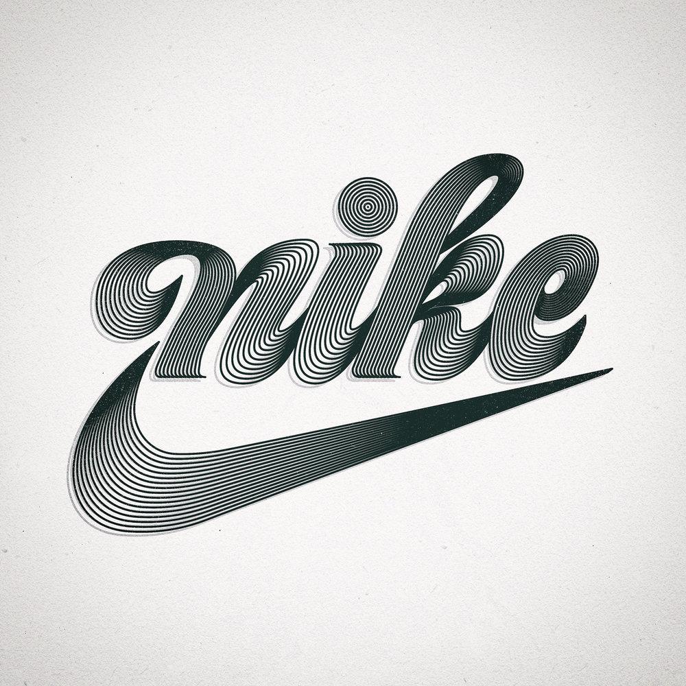 nike vintage swoosh logo