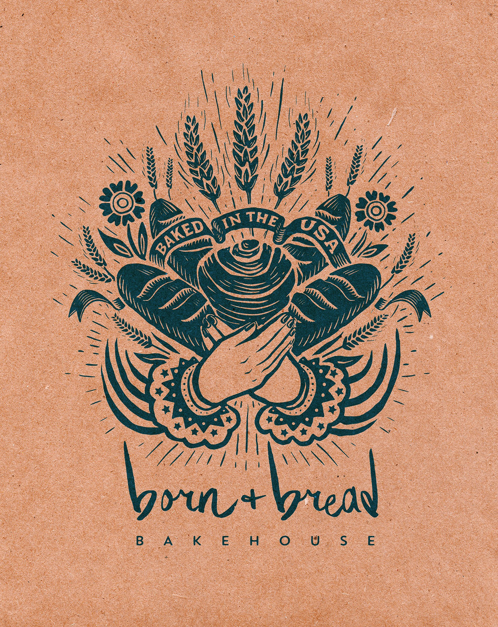 Born + Bread Bakehouse bag design