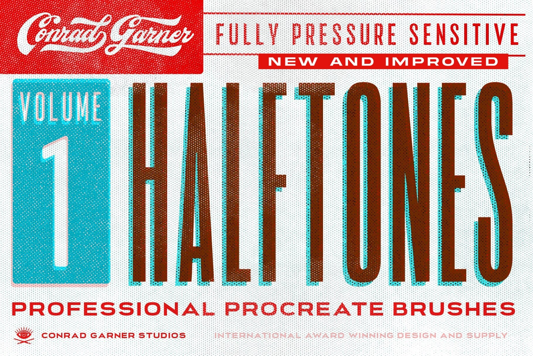 HALFTONE Brushes - Procreate — Conrad Garner
