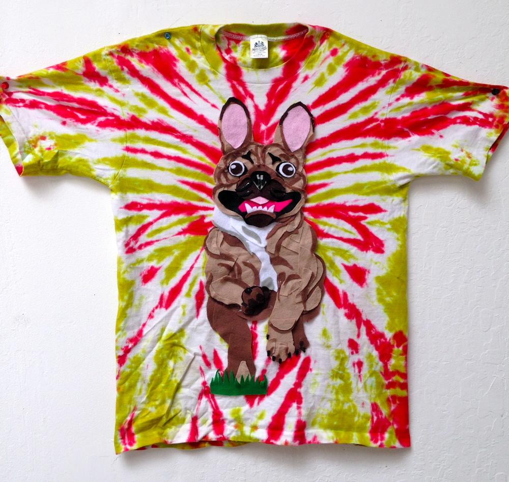 t-shirt, felt frenchie