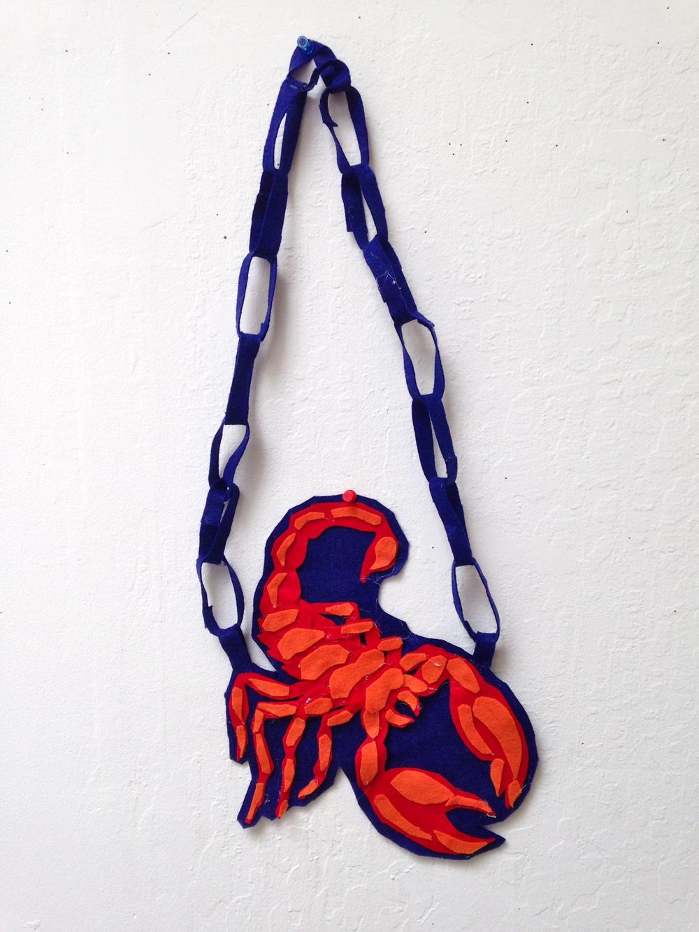 felt scorpion chain