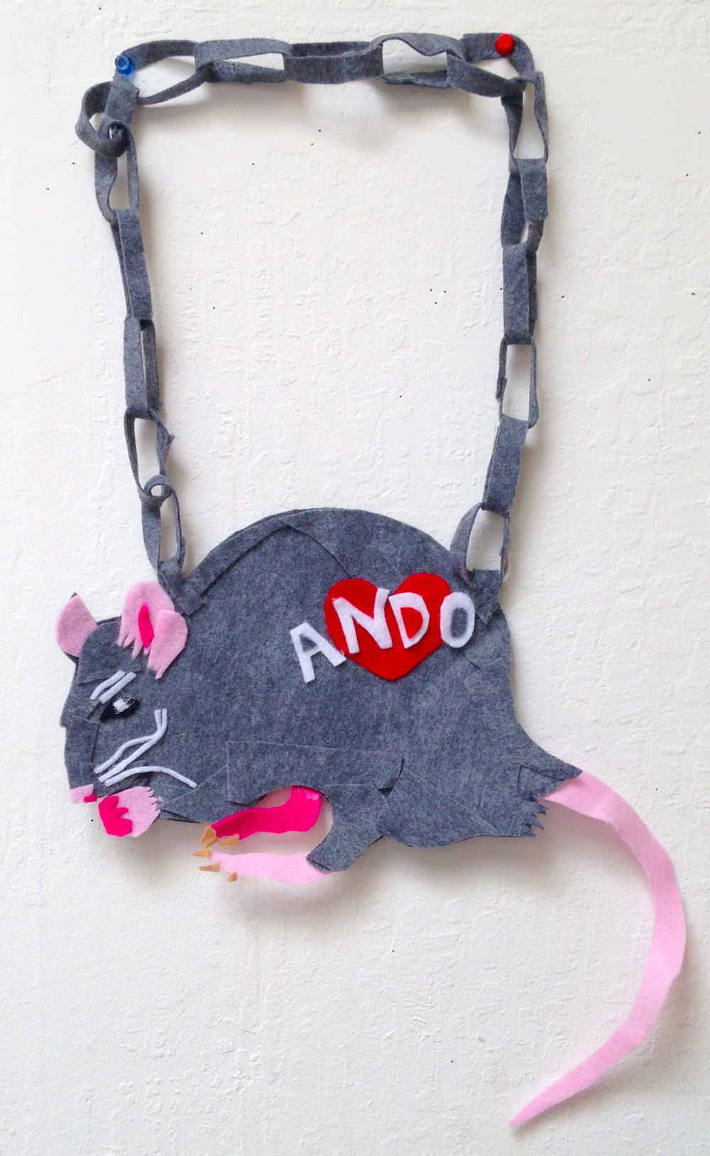 felt rat chain