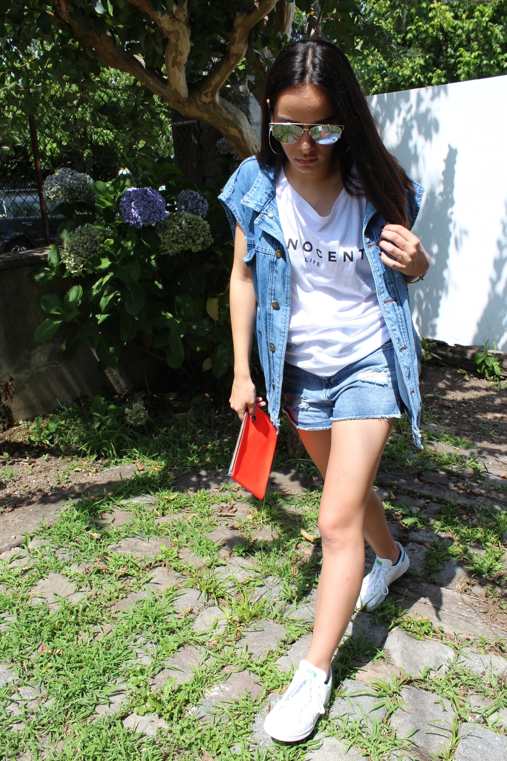 The Innocent Life t-shirt featured in a edgier/denim outfit.