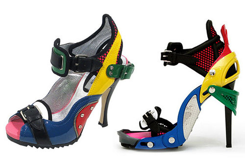 Balenciaga's Lego shoe (right) & Steve Madden's version (left)