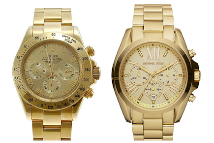 Rolex Daytona (left) & Michael Kors Chronograph Layton (right)