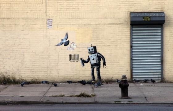 Banksy-NYC-Coney-Island-Robot-Barcode-Brooklyn