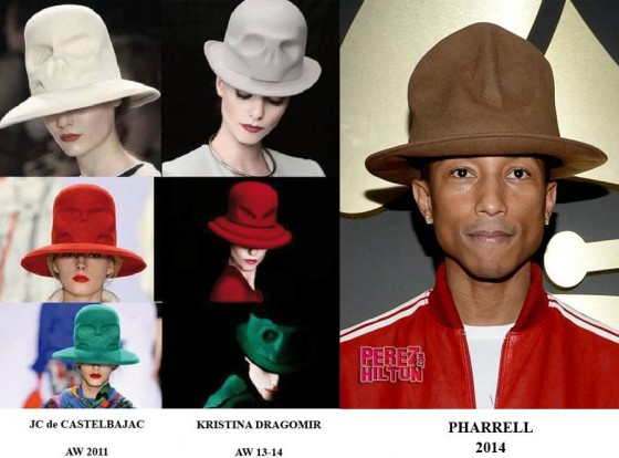 Designer Says Pharrell s Grammys Hat Is a Copy — The Fashion Law becf626435b