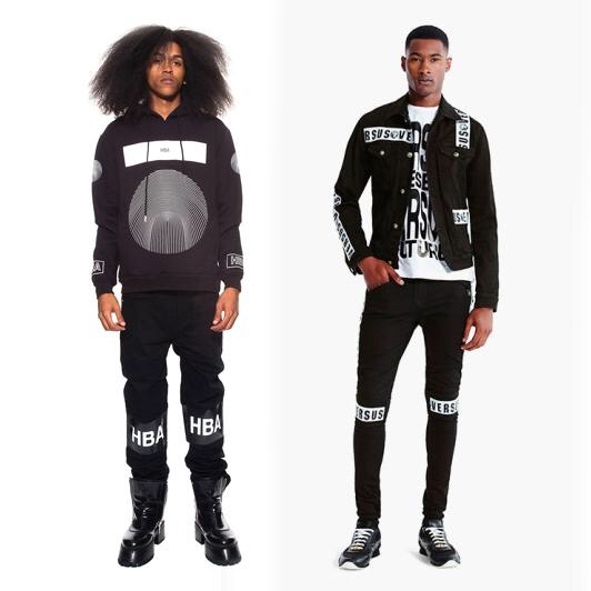 Hood By Air Fall/Winter 2014 (left) & Versus Versace Spring/Summer 2015 (right)