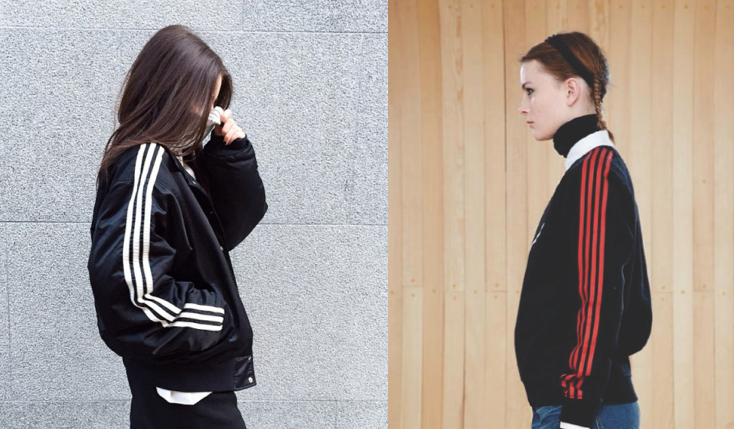 Adidas (left) and Marc by Marc Jacobs (right)