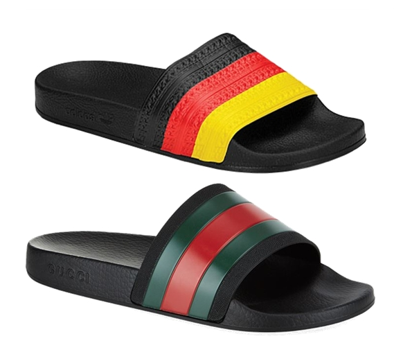"1f031e430786ad Babcock continues on to write what many of you may be thinking  ""One look  at the Adilette flip flop and you can tell that Gucci shamelessly ripped  off the ..."