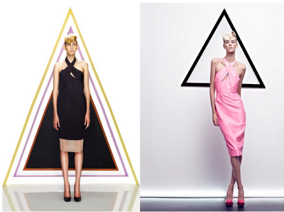 Novakhett for Jaspal (left) & Cushnie et Ochs S/S 2012 (right)