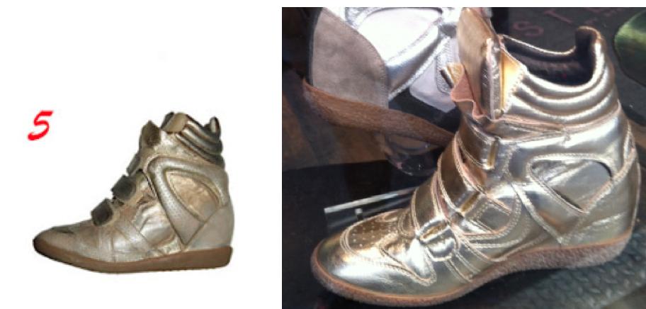 Isabel Marant's Willow sneaker (left) & Steve Madden's version (right)